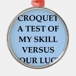 croquet christmas ornament