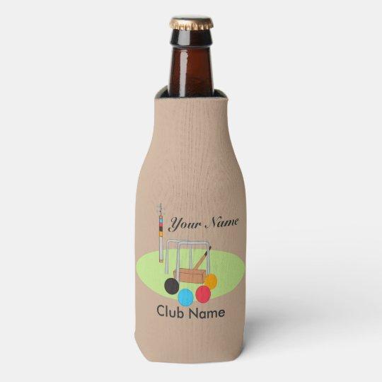 Croquet Club Player Team Bottle Cooler