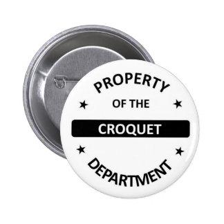 Croquet Department 6 Cm Round Badge