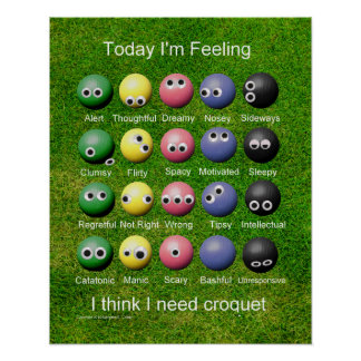 Croquet Emotions Poster