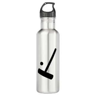 Croquet Mallet and Ball Graphic 710 Ml Water Bottle