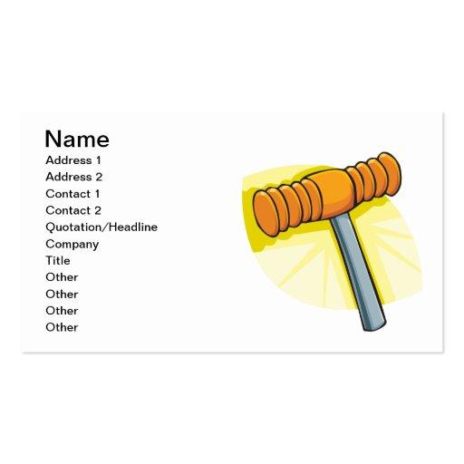 Croquet Mallet Business Card
