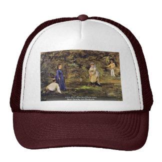 Croquet Match By Manet Edouard Trucker Hat