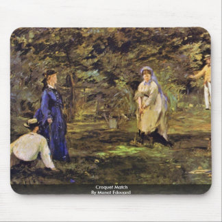 Croquet Match By Manet Edouard Mouse Pad