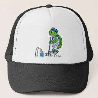 Croquet Turtle Trucker Hat