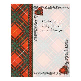 Crosby clan Plaid Scottish tartan 11.5 Cm X 14 Cm Flyer