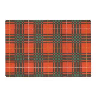Crosby clan Plaid Scottish tartan Laminated Placemat