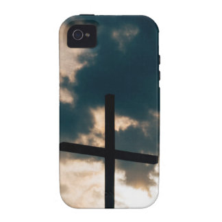 Cross against dark sky vibe iPhone 4 cases