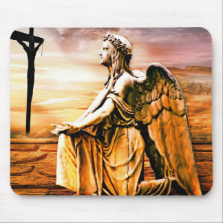 Cross and Angel Mouse Mat