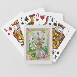 Cross And Angel Praying Playing Cards