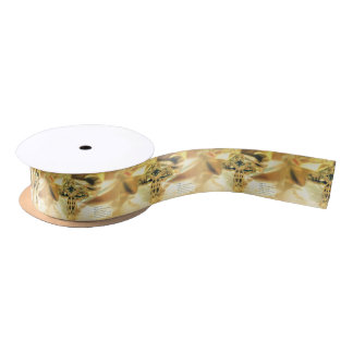 Cross and Bible Quote - Christianity Satin Ribbon