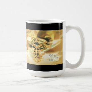 Cross and Bible Quote - Christmas Basic White Mug