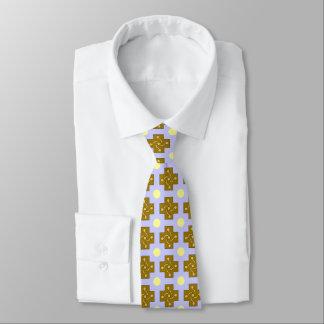 Cross And Circle Design Tie