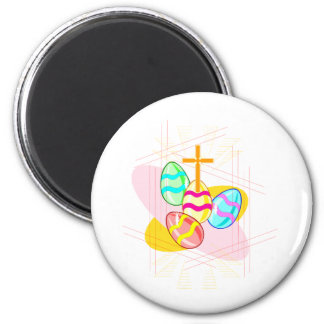 Cross and Easter Eggs Magnet