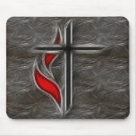 CROSS AND FLAME MOUSEPADS