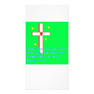 Cross and Grace Prayer Card Picture Card