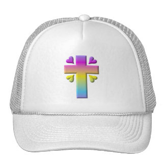 Cross and hearts #2 ( 3-D pastel ) Cap
