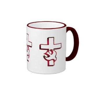 Cross and Holy Spirit / Holy Ghost Ringer Mug