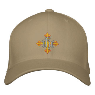 Cross and Jesus' Name Embroidered Cap