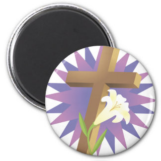 Cross and Lily Magnet