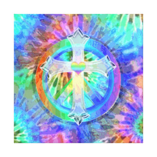 Cross and Peace Sign