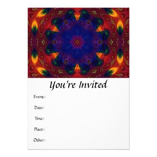 Cross and Star Mandala Custom Invites