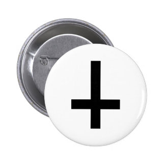 Cross antichrist 6 cm round badge
