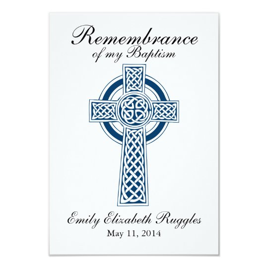 Cross - Baptism Christening Prayer Card