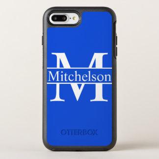 Cross Bar Blue LR Monogrammed OtterBox Symmetry iPhone 8 Plus/7 Plus Case