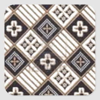 Cross Batik Square Sticker