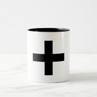 Cross black mug