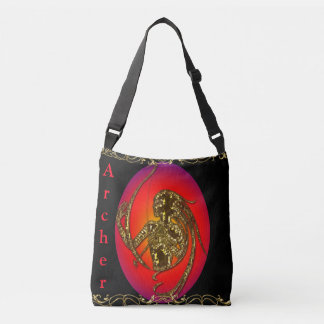 Cross Body Bag-Archer designed/Red, gold, black Crossbody Bag