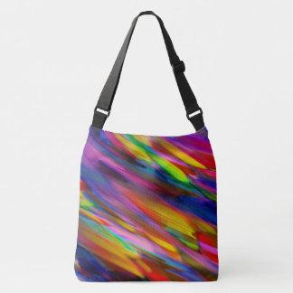 Cross Body Bag Colorful digital art splashing
