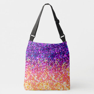 Cross Body Bag Glitter Graphic