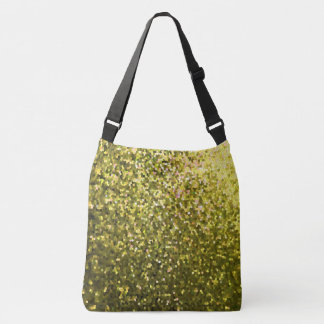 Cross Body Bag Gold Mosaic Sparkley Texture