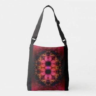 Cross Body Bag w. Red-Pink-Gold Digital Art Image