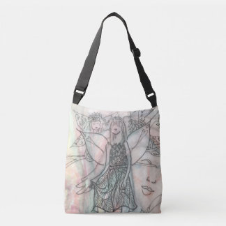 Cross body bag with fairie images