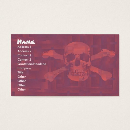 Cross Bones Business/Profile Card