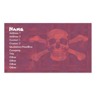 Cross Bones Business/Profile Card Pack Of Standard Business Cards