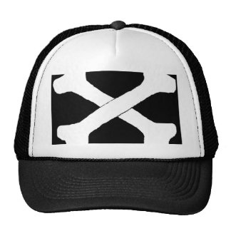 Cross bones trucker hats