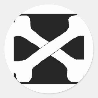 Cross bones sticker