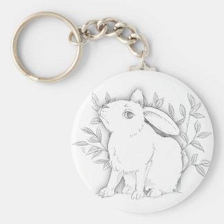 cross bunny key ring