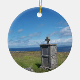 Cross by the sea christmas ornament