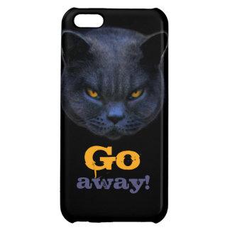 Cross Cat says Go Away Case For iPhone 5C