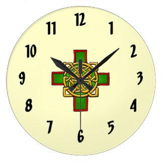 Cross Celtic design Wall Clock