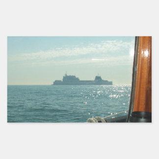 Cross Channel Ferry From The Wheelhouse Rectangular Sticker
