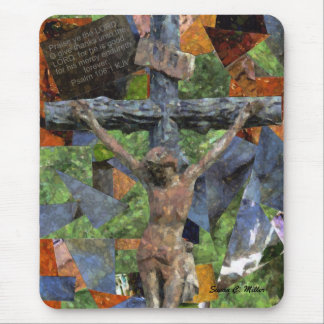 cross collage mouse mat
