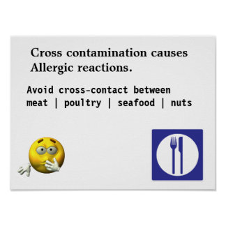 Cross contamination causes Allergic reactions. Poster