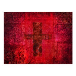 CROSS  Contemporary Christian art Postcard