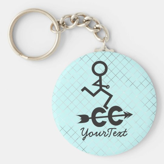 Cross Country - CC Running Basic Round Button Key Ring